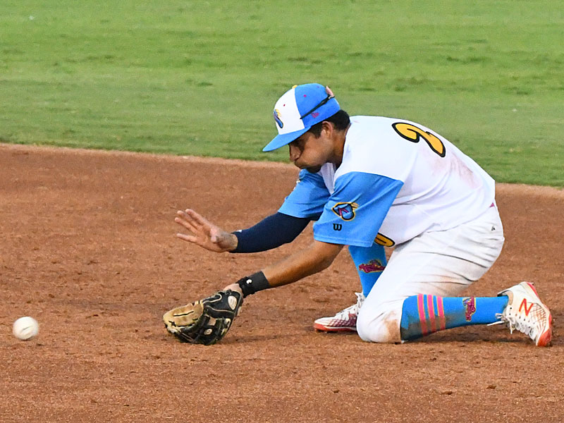 Jonathan Tapia from UTSA and O'Connor High School made his debut with the Flying Chanclas de San Antonio against Texas USA on Saturday night at Wolff Stadium. - photo by Joe Alexander