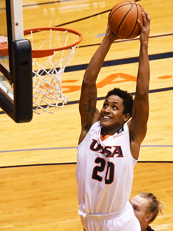 Eric Parrish has 20 points, 4 rebounds and 4 steals in his UTSA debut as the Roadrunners beat UT-Permian Basin 97-71 on Friday, Nov. 27, 2020 at the Convocation Center.