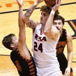 Jacob Germany. UTSA beat UT-Permian Basin 97-71 on Friday, Nov. 27, 2020 in the men's basketball season opener at the Convocation Center.
