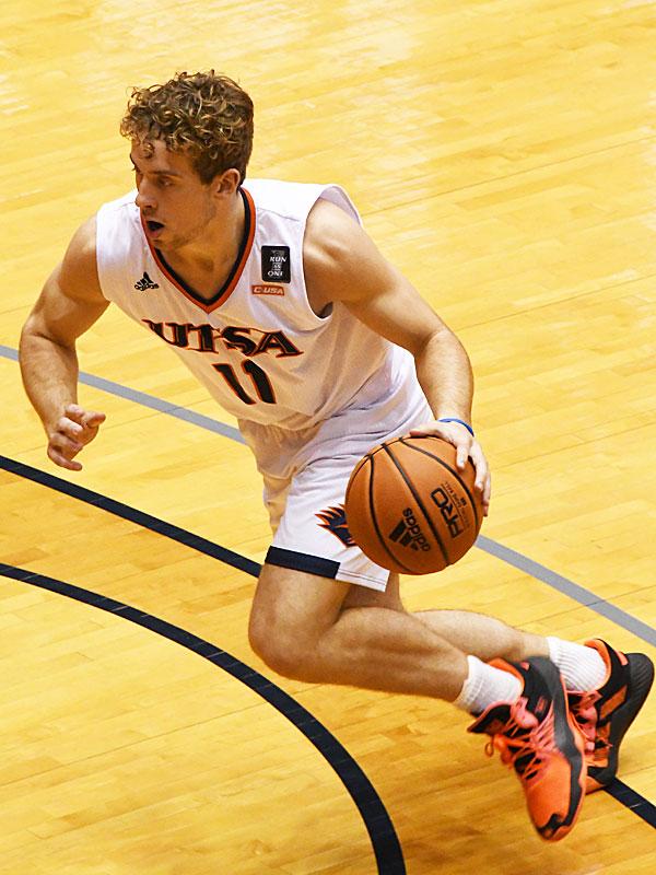 Lachlan Bofinger. UTSA beat UT-Permian Basin 97-71 on Friday, Nov. 27, 2020 in the men's basketball season opener at the Convocation Center.