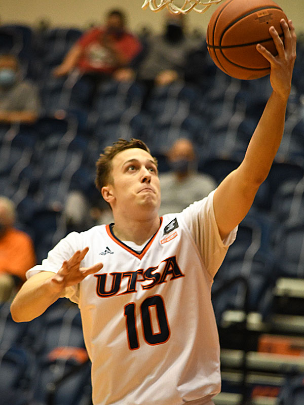 Erik Czumbel. UTSA beat Lamar 88-66 on Tuesday, Dec. 22, 2020, at the Convocation Center. - photo by Joe Alexander