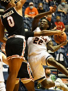 Keaton Wallace scored 12 points as UTSA beat Lamar 88-66 on Tuesday, Dec. 22, 2020, at the Convocation Center. - photo by Joe Alexander