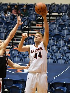 Luka Barisic had 18 points and 10 rebounds as UTSA beat Lamar 88-66 on Tuesday, Dec. 22, 2020, at the Convocation Center. - photo by Joe Alexander