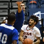 Jhivvan Jackson. UTSA beat Our Lady of the Lake 102-70 on Sunday, Dec. 20, 2020, at the UTSA Convocation Center. - photo by Joe Alexander