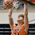 Jacob Germany. UTSA beat North Texas 77-69 in a Conference USA game on Saturday, Jan. 9, 2021 at the Convocation Center. - photo by Joe Alexander