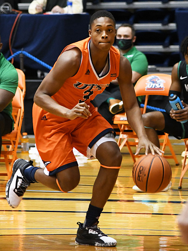 Jordan Ivy-Curry. UTSA beat North Texas 77-69 in a Conference USA game on Saturday, Jan. 9, 2021 at the Convocation Center. - photo by Joe Alexander