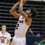 Jhivvan Jackson. UTSA lost to North Texas 77-70 in Conference USA action on Friday, Jan. 8, 2021, at the Convocation Center. - photo by Joe Alexander