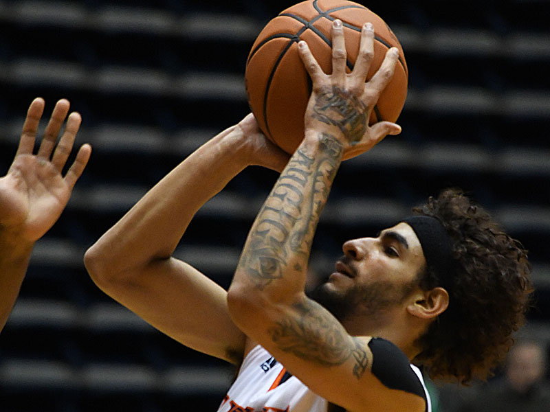 Jhivvan Jackson scored a team-high 26 points for UTSA in Friday's Conference USA loss to North Texas at the Convocation Center. - photo by Joe Alexander