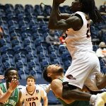 Keaton Wallace had 12 points in the second half and 14 for the game for UTSA in Friday's Conference USA loss to North Texas at the Convocation Center. - photo by Joe Alexander