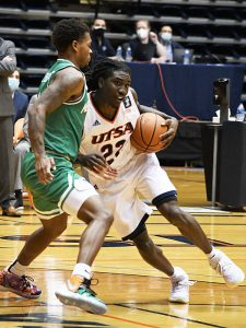 Keaton Wallace. UTSA lost to North Texas 77-70 in Conference USA action on Friday, Jan. 8, 2021, at the Convocation Center. - photo by Joe Alexander