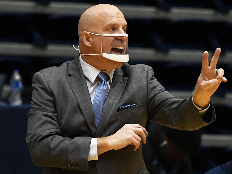 UTSA men's basketball head coach Steve Henson at Friday's game against North Texas at the Convocation Center. - photo by Joe Alexander