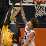 Jacob Germany. UTSA beat Southern Miss 70-64 in Conference USA action at the Convocation Center on Friday, Jan. 22, 2021. - photo by Joe Alexander