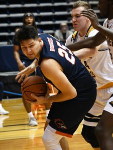 Adrian Rodriguez started his second game in a row, both Roadrunners victories, as UTSA beat Southern Miss 78-72 in Conference USA action at the Convocation Center on Saturday, Jan. 23, 2021. - photo by Joe Alexander