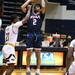 Jhivvan Jackson had 24 points, 6 assists, 4 rebounds and 3 steals as UTSA beat Southern Miss 78-72 in Conference USA action at the Convocation Center on Saturday, Jan. 23, 2021. - photo by Joe Alexander