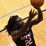 Keaton Wallace. UTSA beat Southern Miss 78-72 in Conference USA action at the Convocation Center on Saturday, Jan. 23, 2021. - photo by Joe Alexander