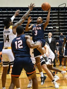 Jordan Ivy-Curry. UTSA beat Southern Miss 78-72 in Conference USA action at the Convocation Center on Saturday, Jan. 23, 2021. - photo by Joe Alexander