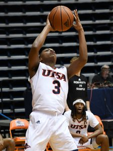 Jordan Ivy-Curry. UTSA beat UTEP 86-79 in a Conference USA game on Thursday, Jan. 28, 2021 at the UTSA Convocation Center. - photo by Joe Alexander