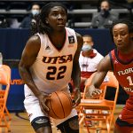 Keaton Wallace. UTSA beat Florida Atlantic 84-80 on Friday, Feb. 12, 2021, in the first game of a Conference USA back-to-back. - photo by Joe Alexander