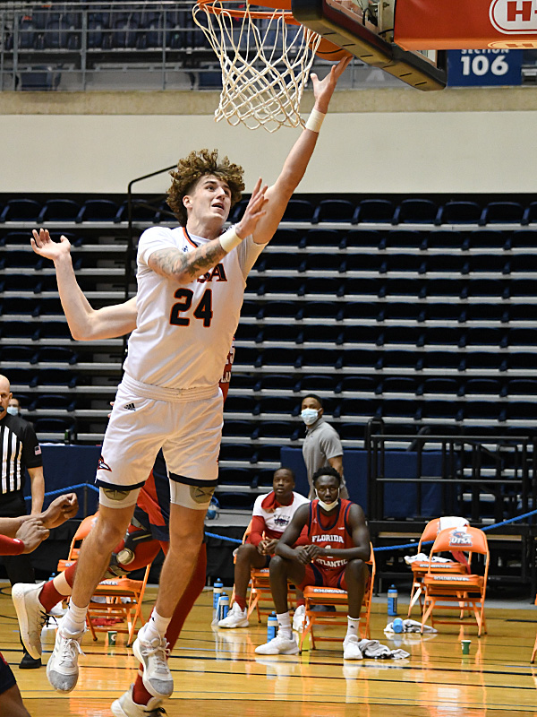 Jacob Germany. UTSA beat Florida Atlantic 84-80 on Friday, Feb. 12, 2021, in the first game of a Conference USA back-to-back. - photo by Joe Alexander