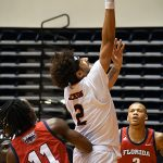 Jhivvan Jackson. UTSA beat Florida Atlantic 84-80 on Friday, Feb. 12, 2021, in the first game of a Conference USA back-to-back. - photo by Joe Alexander