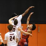 Cedrick Alley Jr. UTSA beat Florida Atlantic 84-80 on Friday, Feb. 12, 2021, in the first game of a Conference USA back-to-back. - photo by Joe Alexander