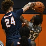 Jacob Germany. UTSA beat UAB 96-79 in Conference USA on the Roadrunners' senior day for Jhivvan Jackson, Keaton Wallace and Phoenix Ford on Feb. 27, 2021, at the Convocation Center. - photo by Joe Alexander