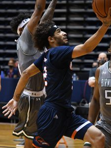 Jhivvan Jackson. UTSA beat UAB 96-79 in Conference USA on the Roadrunners' senior day for Jhivvan Jackson, Keaton Wallace and Phoenix Ford on Feb. 27, 2021, at the Convocation Center. - photo by Joe Alexander