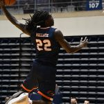 Keaton Wallace. UTSA beat UAB 96-79 in Conference USA on the Roadrunners' senior day for Jhivvan Jackson, Keaton Wallace and Phoenix Ford on Feb. 27, 2021, at the Convocation Center. - photo by Joe Alexander