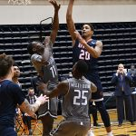 Eric Parrish. UTSA beat UAB 96-79 in Conference USA on the Roadrunners' senior day for Jhivvan Jackson, Keaton Wallace and Phoenix Ford on Feb. 27, 2021, at the Convocation Center. - photo by Joe Alexander
