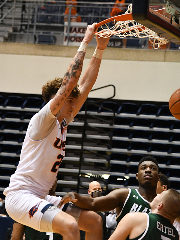 Jacob Germany. UAB beat UTSA 64-57 on Friday, Feb. 26, 2021, in Conference USA action at the UTSA Convocation Center. - photo by Joe Alexander