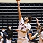 Jhivvan Jackson. UAB beat UTSA 64-57 on Friday, Feb. 26, 2021, in Conference USA action at the UTSA Convocation Center. - photo by Joe Alexander