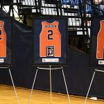 UTSA honored senior men's basketball players Jhivvan Jackson, Keaton Wallace and Phoenix Ford on Saturday, Feb. 27, 2021, in the Roadrunners' final scheduled home game of the 2020-21 season. - photo by Joe Alexander