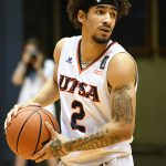 Jhivvan Jackson. UTSA beat Southwestern Adventist from Keene, Texas, 123-43 in a non-conference game on Thursday, March 4, 2021, at the UTSA Convocation Center. - photo by Joe Alexander