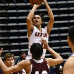 Jaja Sanni. UTSA beat Southwestern Adventist from Keene, Texas, 123-43 in a non-conference game on Thursday, March 4, 2021, at the UTSA Convocation Center. - photo by Joe Alexander