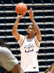 Josh Farmer, a 6-foot-9 freshman forward from Houston Sharpstown, at the first day of UTSA men's basketball practice. - photo by Joe Alexander